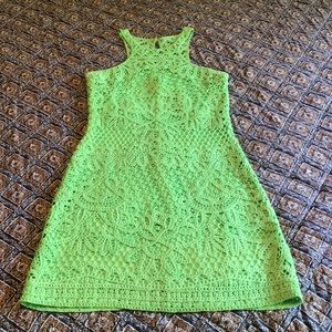 Lilly Pulitzer Green Lace Dress size Small